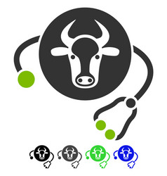 Cow veterinary flat icon vector