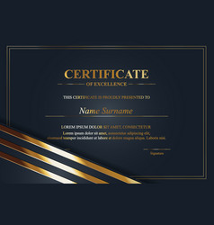 Creative certificate appreciation award vector
