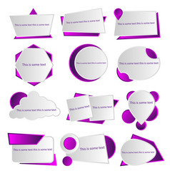 creative color template for text vector image