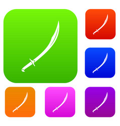 Cutlass set color collection vector