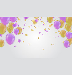 design for greeting cards and poster with balloon vector image