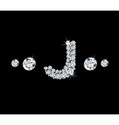 Diamond alphabetic letter J vector image
