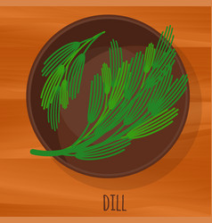 dill flat design icon vector image