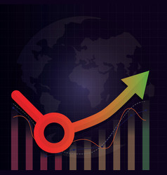Economic recovery l u shape after covid-19 crisis vector