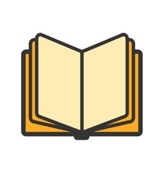 Education open book icon vector image