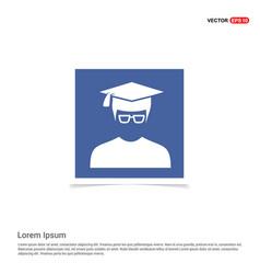 Education user icon - blue photo frame vector
