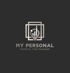 Financial advisor logos design template vector