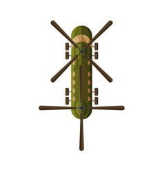 flying helicopter view from above military air vector image