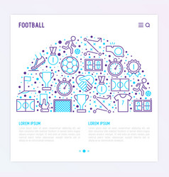 Football concept in half circle vector