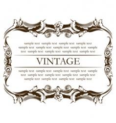 frame vintage vector image