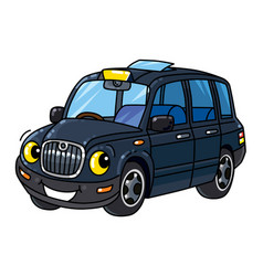Funny small taxi car or london cab vector