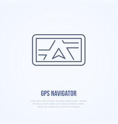 gps navigator flat line icon navigation vector image
