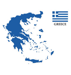 Greece map with flag vector
