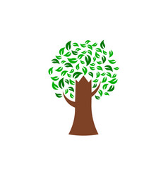 green tree environmental logo vector image