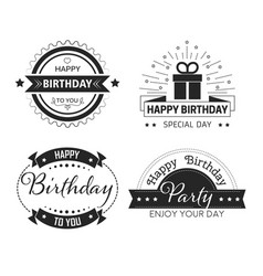 greeting cards decor happy birthday cup print vector image