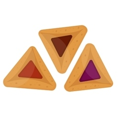 Hamantaschen icon Flat style isolated on white vector