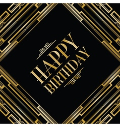 Happy birthday gatsby vector