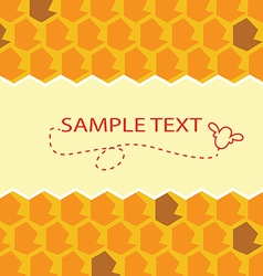 honey template vector image