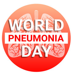 International pneumonia day concept background vector