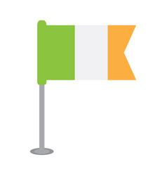 isolated flag of ireland vector image