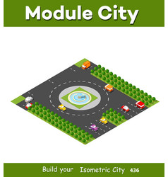 Isometric module area downtown vector