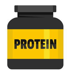 kilogram protein icon flat style vector image vector image