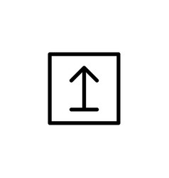 line this side up sign icon on white background vector image