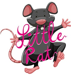Litte rat idiom with text vector image