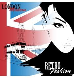 London vintage grunge poster vector image