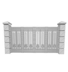 Metal fence vector