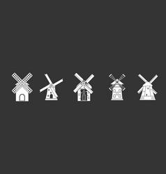 mill icon set grey vector image
