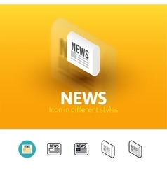 News icon in different style vector image