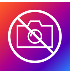 no camera no photo sign prohibition vector image