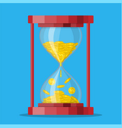 old style hourglass clocks with dollar vector image