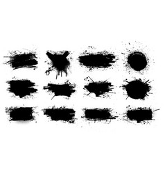 paint brush stains ink splashes strokes vector image