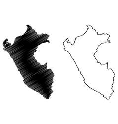 peru map vector image
