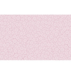 Pink hexagonal pattern background vector