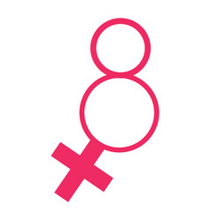 pink woman symbol vector image