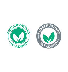 preservatives no added green leaf icon vector image