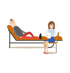 psychotherapist concept vector image