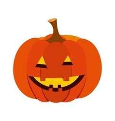 Pumpkin with a smile icon vector image