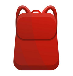 red camp backpack icon cartoon style vector image