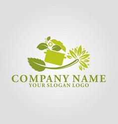 restaurant leaf logo 1 vector image