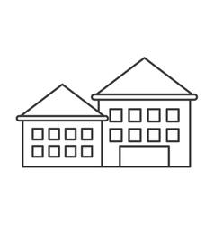 Retro building icon vector