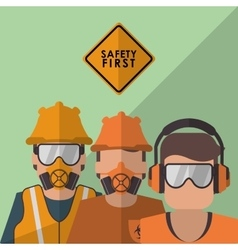 Safety icon design vector image