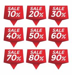 Sale percent sticker price tag vector