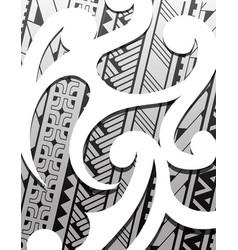 samoa ethnic ornament vector image