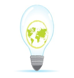 save world bulb vector image