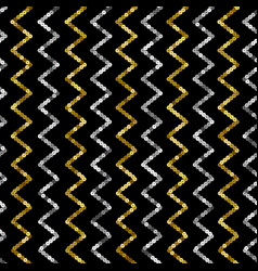 Sequins seamless pattern abstract zig zag vector