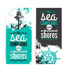Set of travel grunge banners vector image